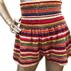 🌈 Zara Knit Crochet High Waisted Rainbow Shorts
